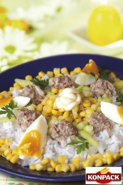 Ryż paraboiled Fit`s - sałatka z ryżem i tuńczykiem net