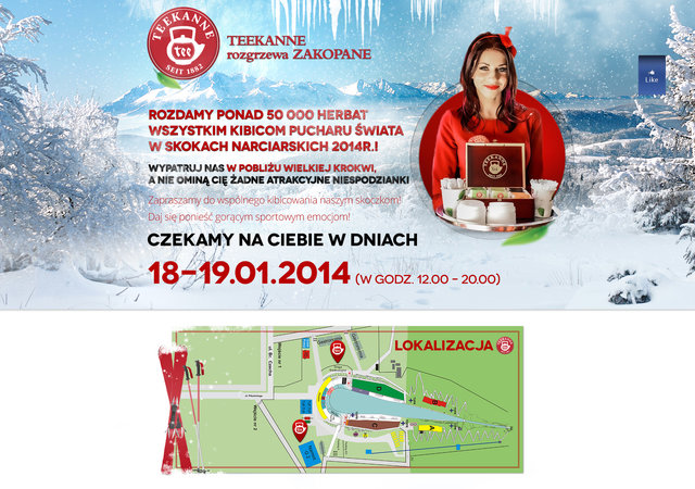 TEEKANNE podniesie temperaturę w Zakopanem!  Bijemy rekordy podczas Pucharu Świata w skokach narciarskich.